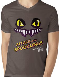 Attack of the Spooklings - B Movie Poster - Purple Mens V-Neck T-Shirt
