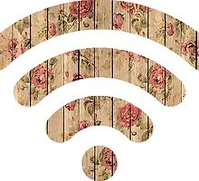 Floral Wood Wifi by SuperFluff