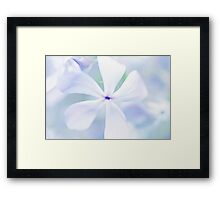 Floral in Pastel Tones of Blue Framed Print
