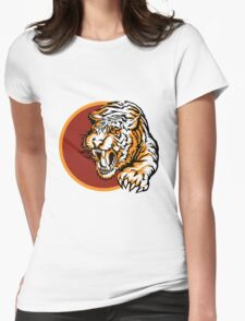 Roaring tiger logo design Womens Fitted T-Shirt