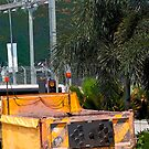 Cartoon - A dumper truck in the streets of Singapore by ashishagarwal74