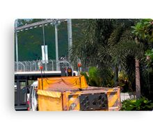 Cartoon - A dumper truck in the streets of Singapore Canvas Print