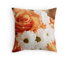 On a Rosy Day Throw Pillow