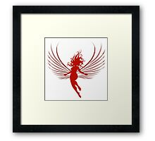 Sulhoutte of flying woman  Framed Print