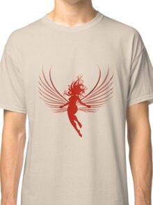 Sulhoutte of flying woman  Classic T-Shirt