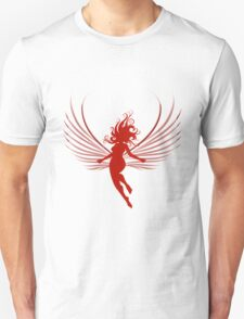 Sulhoutte of flying woman  T-Shirt