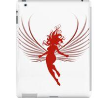 Sulhoutte of flying woman  iPad Case/Skin