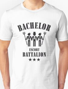 Bachelor Escort Battalion (Stag Party / Black) Unisex T-Shirt