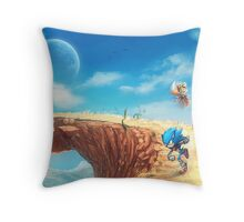 Sonic the Hedgehog Fan Art - Boom Sonic & Tails Throw Pillow