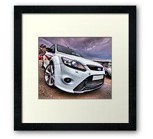 White Ford Focus RS Turbo Framed Print