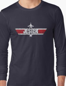 Custom Top Gun Style - Jester Long Sleeve T-Shirt