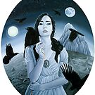 The Seven Ravens - Grimm Fairytale Painting by plantiebee