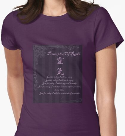 Principles Of Reiki Womens Fitted T-Shirt