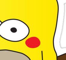Pikachu + Homer Simpson Sticker