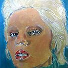 Angela Bowie expressionist painting by adrienne75