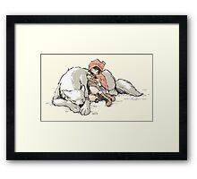 Petite Rouge en le Loup  Framed Print
