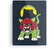 Battle Kitty's Mighty RAWR!  Metal Print
