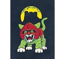 Battle Kitty's Mighty RAWR!  Photographic Print