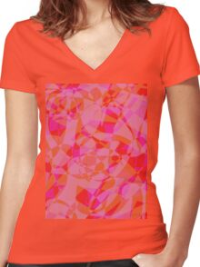 City Lights Women's Fitted V-Neck T-Shirt
