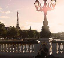 Busker in Paris by Emily Horton