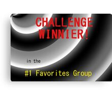 Challenge Winner Canvas Print