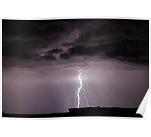 Lightning over Arches National Park Poster