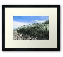 Beal rocks and sand dunes Framed Print