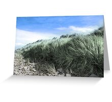 Beal rocks and sand dunes Greeting Card