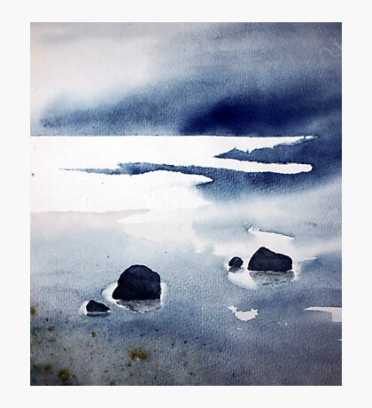 rock pools at low tide Photographic Print