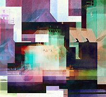 Lighthouse Abstract by perkinsdesigns