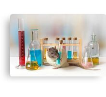 Working at the Laboratory Canvas Print