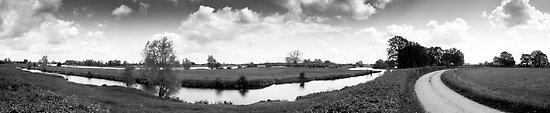 Uiterwaarden (Dutch River Landscape) by M. van Oostrum