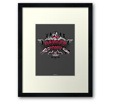 Danger Zone! Framed Print