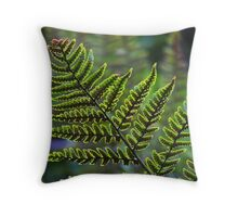 Tiny Fern Aglow Throw Pillow