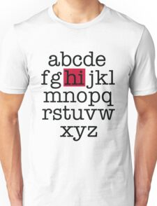 The Alphabet Unisex T-Shirt