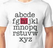 The Alphabet Unisex T-Shirt