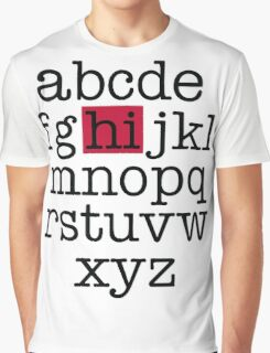 The Alphabet Graphic T-Shirt