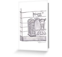 British Telephone Booth Greeting Card
