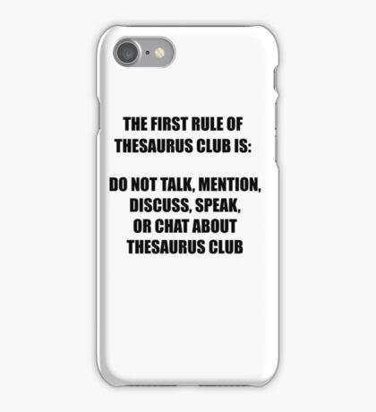 Thesaurus Club iPhone Case/Skin