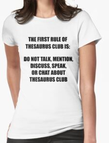 Thesaurus Club Womens Fitted T-Shirt