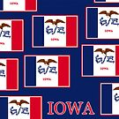 Iphone Case - State Flag of Iowa - Patchwork Blue by Mark Podger