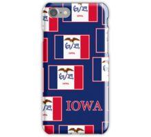 Smartphone Case - State Flag of Iowa - Patchwork Blue iPhone Case/Skin
