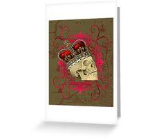 King Skull Greeting Card