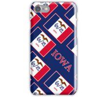Smartphone Case - State Flag of Iowa - Patchwork Blue Diagonal iPhone Case/Skin