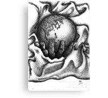 Earth in my palm lying on a blanket Canvas Print