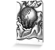 Earth in my palm lying on a blanket Greeting Card