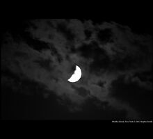 Half Moon Surrounded With Clouds - Middle Island, New York  by © Sophie W. Smith