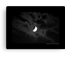 Half Moon Surrounded With Clouds - Middle Island, New York  Canvas Print