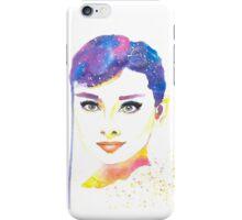 Audrey Hepburn Watercolor iPhone Case/Skin