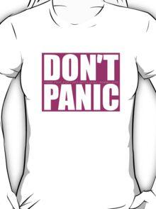 Don't Panic...Isaiah 41:10 (Pink) T-Shirt